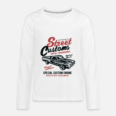 Classic Car Street Customs Vintage Car - Kids' Premium Long Sleeve T-Shirt