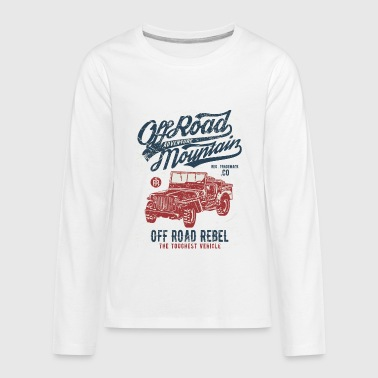 Off Road Adventure Mountain - Rebel Jeep T Shirt - Kids' Premium Long Sleeve T-Shirt