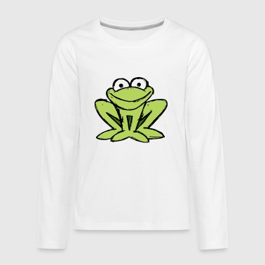 little frog ready to jump into the pond - Kids' Premium Long Sleeve T-Shirt