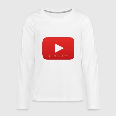 Youtube Youtube is my city - Kids' Premium Long Sleeve T-Shirt