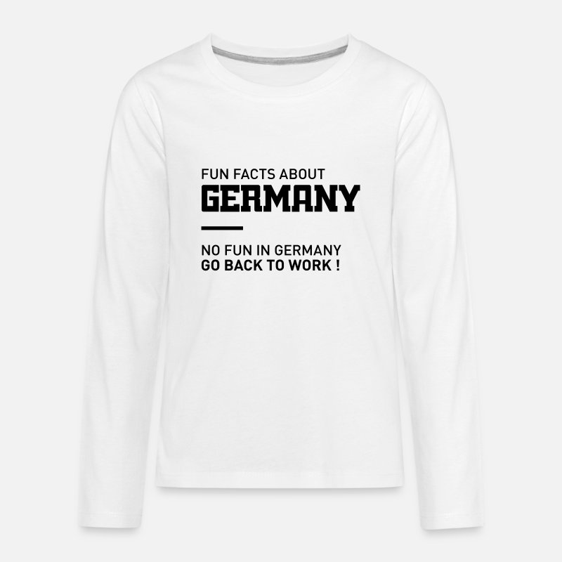 Germany T-Shirts - fun facts about germany - Kids' Premium Longsleeve Shirt white