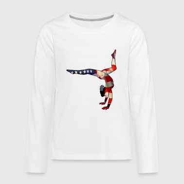 American Gymnastics - Kids' Premium Long Sleeve T-Shirt
