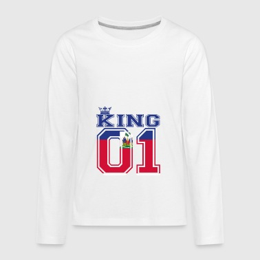 couple land king 01 prince Haiti - Kids' Premium Long Sleeve T-Shirt