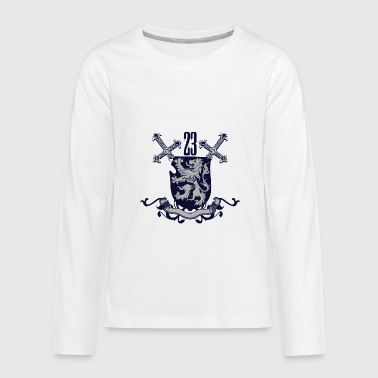 Shield and sword - Kids' Premium Long Sleeve T-Shirt