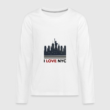 I Love New York - Kids' Premium Long Sleeve T-Shirt