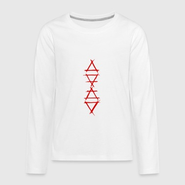 4 Elements Element symbol 4 elements red - Kids' Premium Long Sleeve T-Shirt