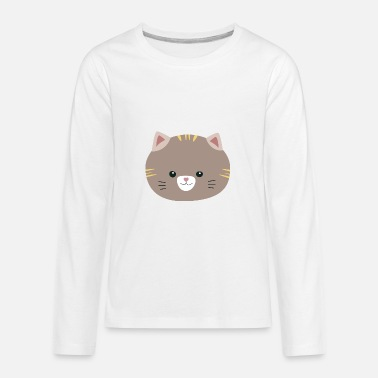 Brown Stripes Brown Cat with yellow stripes - Kids' Premium Long Sleeve T-Shirt