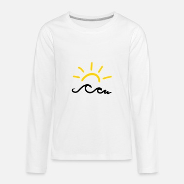 Sun Design Sun and waves - Kids' Premium Long Sleeve T-Shirt