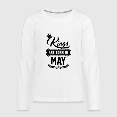 Kings are born in May - Kids' Premium Long Sleeve T-Shirt