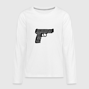 wordtease ENOUGH GUN VIOLENCE silhouette - Kids' Premium Long Sleeve T-Shirt