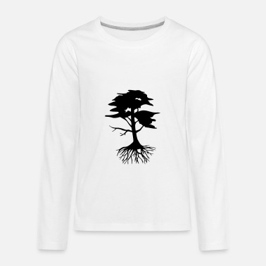 Roots Tree Design Tree with roots - Kids' Premium Long Sleeve T-Shirt