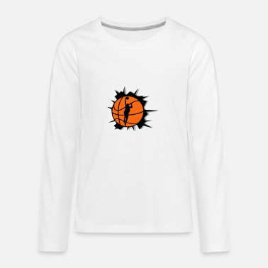 Basketball Player Basketball & Basketball Player & Crack - Kids' Premium Long Sleeve T-Shirt