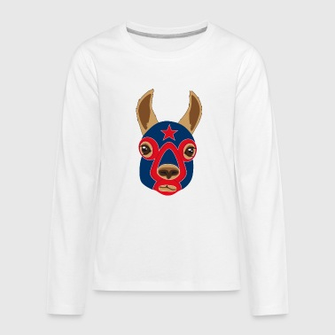 Wrestling Wrestling llama - Kids' Premium Long Sleeve T-Shirt