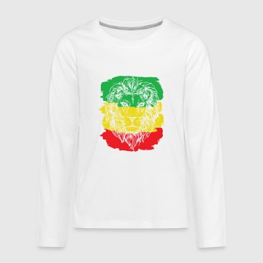 Rastafarian Flag Rasta Lion Cool Rastafarian Flag Colors RastafariAnimal - Kids' Premium Long Sleeve T-Shirt