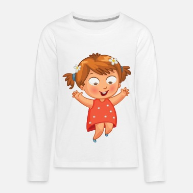 Daisy Girl with daisies - Kids' Premium Long Sleeve T-Shirt