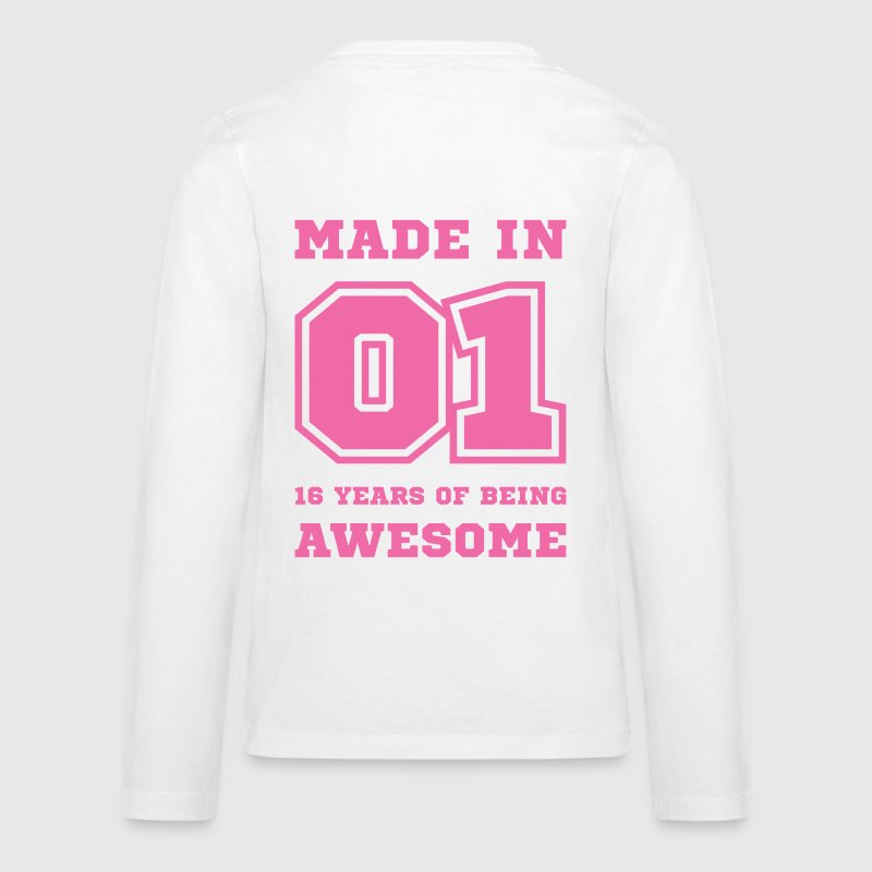Made in 01 16 Years of being awesome - Kids' Premium Long Sleeve T-Shirt