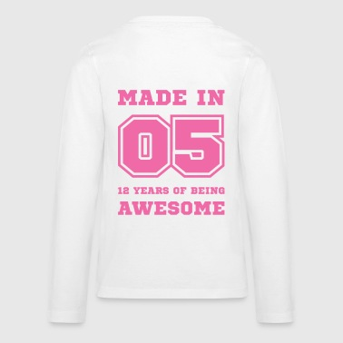 Made in 05 12 Years of being awesome - Kids' Premium Long Sleeve T-Shirt