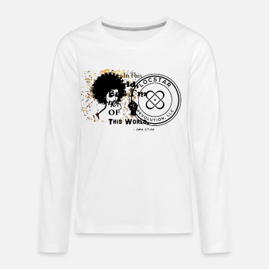 African American LocStar Revolution! (Beautiful Queen Star) - Kids' Premium Longsleeve Shirt