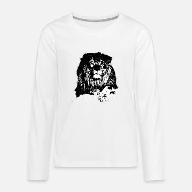 The lion is the king of the jungle Fanny - Kids' Premium Longsleeve Shirt