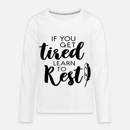 Nature Long-Sleeve Shirts - Rest - Kids' Premium Longsleeve Shirt white