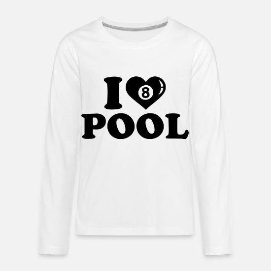8 Ball Long-Sleeve Shirts - pool lover - Kids' Premium Longsleeve Shirt white