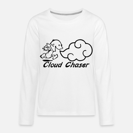Smoker T-Shirts - smoke boy - Kids' Premium Longsleeve Shirt white