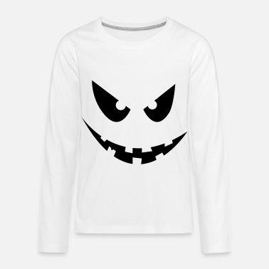Halloween Face - Kids' Premium Longsleeve Shirt