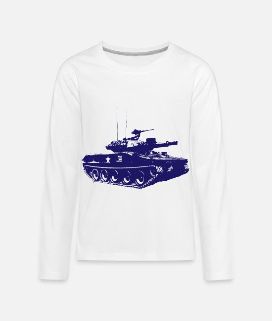 Army Long-Sleeved Shirts - Tank - Military - Army - War - Troops - Soldiers - Kids' Premium Longsleeve Shirt white