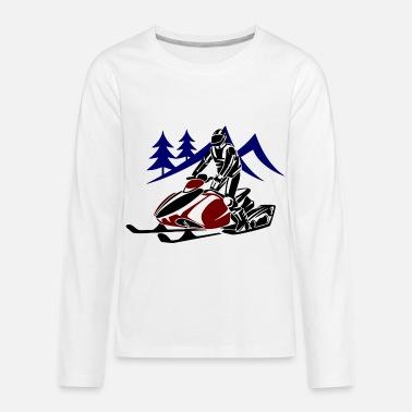 cb9b07d5 Hunting with snowmobile - Kids' Premium Longsleeve Shirt