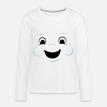 Marshmallow man face - Kids' Premium Longsleeve Shirt