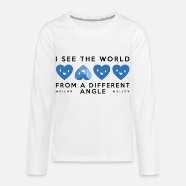 World Autism Different Angle - Kids' Premium Longsleeve Shirt