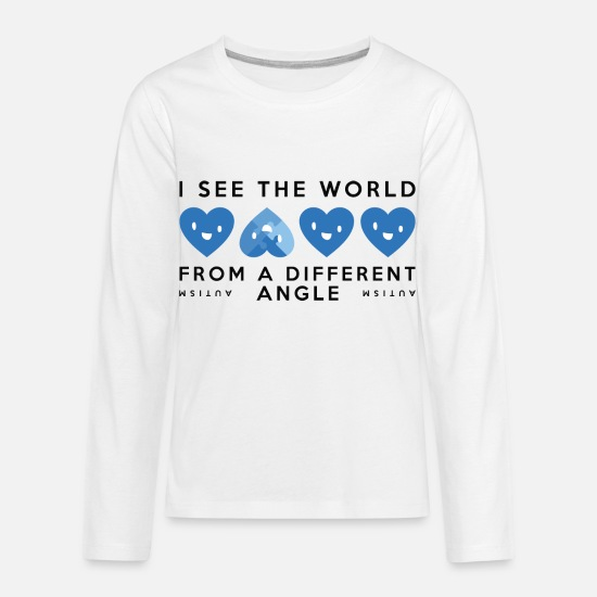 World Long-Sleeve Shirts - Autism Different Angle - Kids' Premium Longsleeve Shirt white