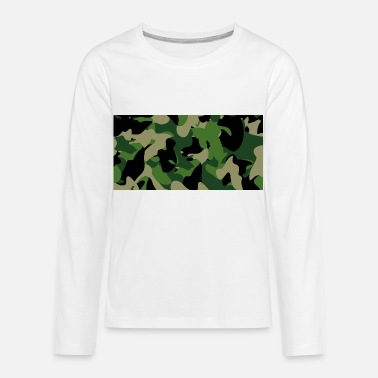 Samsung- Samsung Cases Camouflage Green - Kids' Premium Longsleeve Shirt