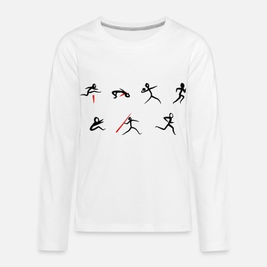 Track And Field Track & Field, Heptathlon - Kids' Premium Longsleeve Shirt