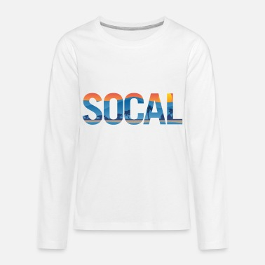 Southern SOCAL Southern California Pride Illustration - Kids' Premium Longsleeve Shirt