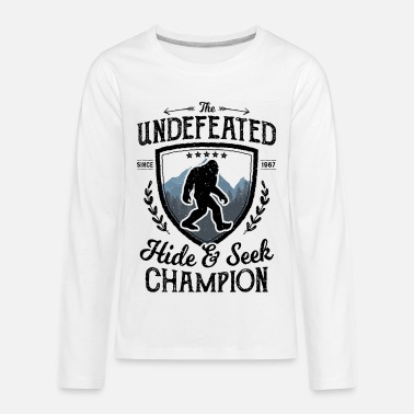 Bigfoot Undefeated Hide And Seek Champion Sasquatc - Kids' Premium Longsleeve Shirt