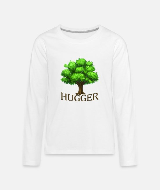 Earth Long-Sleeved Shirts - hugger_happy_arbor_day_earth_funny_shirt - Kids' Premium Longsleeve Shirt white