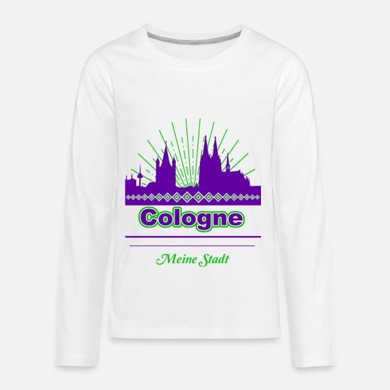 Cologne T-Shirts - Cologne - Kids' Premium Longsleeve Shirt white