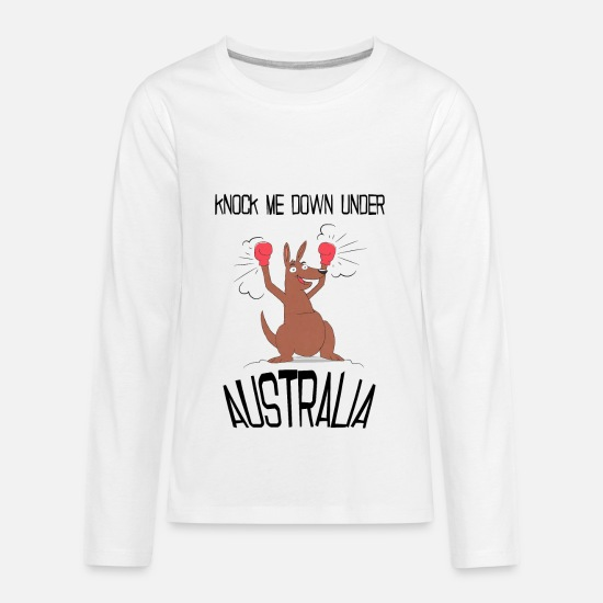 Australia Long-Sleeve Shirts - Australia Down Under - Kids' Premium Longsleeve Shirt white