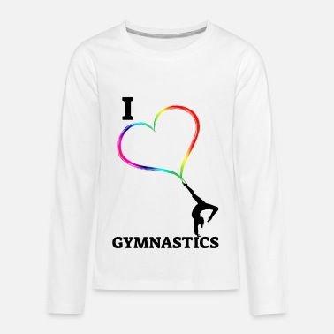 Gymnastics I Love Artistic Gymnastics - Kids' Premium Long Sleeve T-Shirt