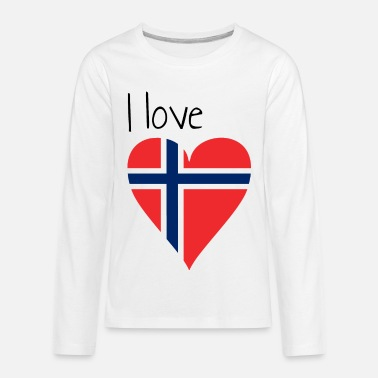 My Favorite Country I love Norway, Gift idea, Norwegian Flag - Kids' Premium Longsleeve Shirt