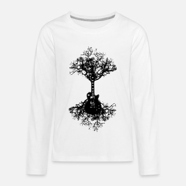 Esp Guitar Electric Guitar Tree Mens Funny Acoustic Bass Rock - Kids' Premium Longsleeve Shirt