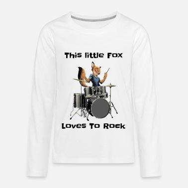 This Little Fox Loves To Rock - Kids' Premium Longsleeve Shirt