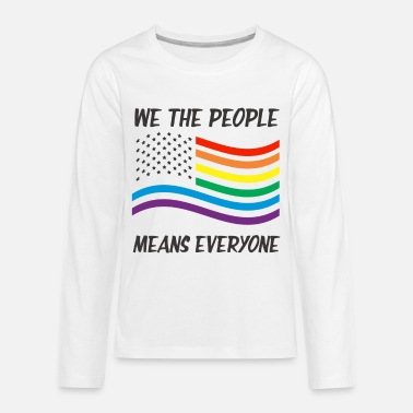 Miscellaneous LGBT people people rights politics gift USA - Kids' Premium Longsleeve Shirt