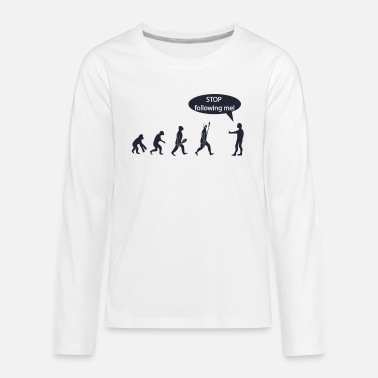 Computer Stop Following Me - Kids' Premium Longsleeve Shirt