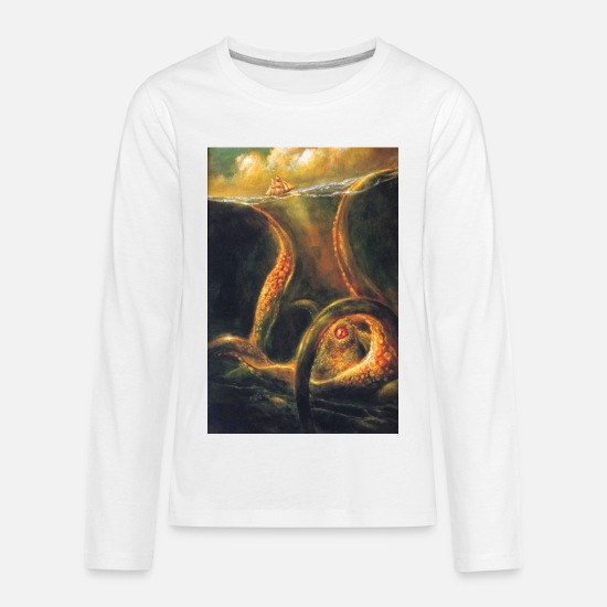 Octopus Long-Sleeve Shirts - Octopus - Kids' Premium Longsleeve Shirt white