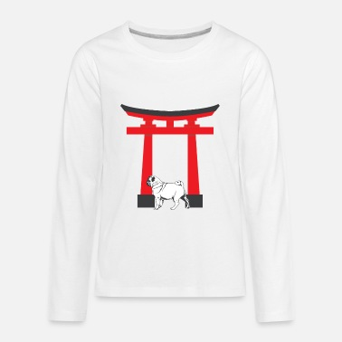 China China Anime Pug Dog Shirt - Kids' Premium Longsleeve Shirt