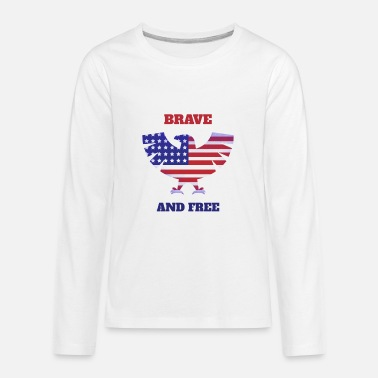 State Brave and Free - Kids' Premium Longsleeve Shirt