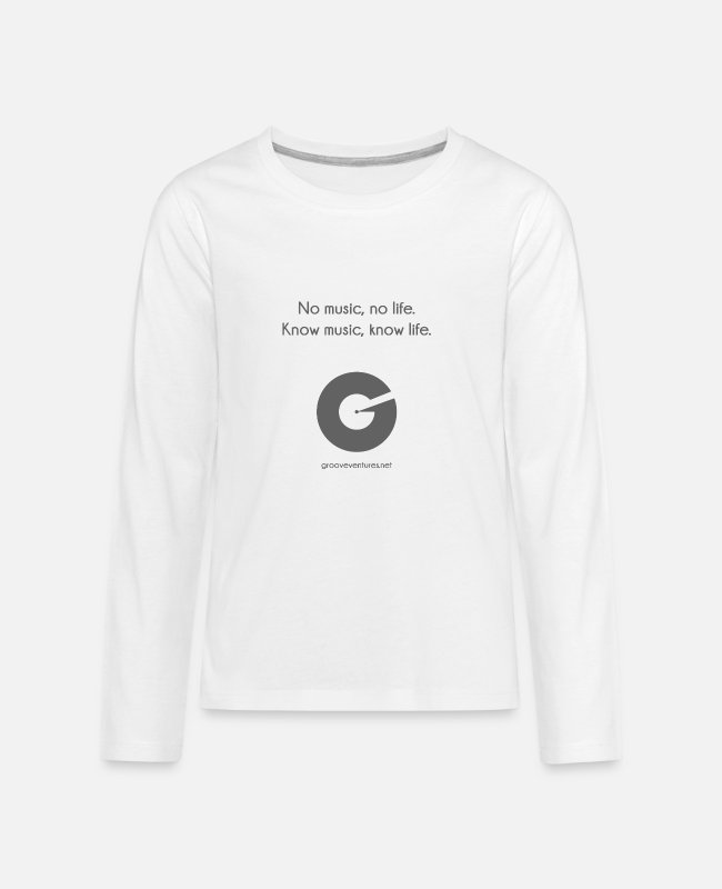Audiophile Long-Sleeved Shirts - Know Music, Know Life - Kids' Premium Longsleeve Shirt white