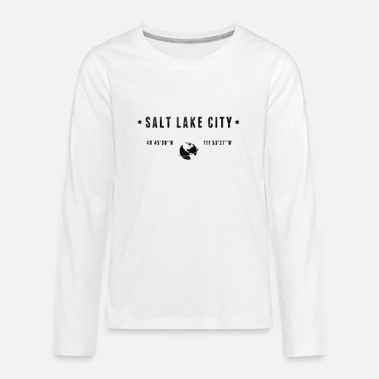 Typography Long-Sleeve Shirts - Salt lake city - Kids' Premium Longsleeve Shirt white